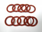 Silicon Rubber Sealing O-Ring 200°C OD 28mm x CS 3.5 Red